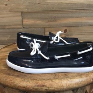 Cole Haan Navy Boating Shoe Size 6.5